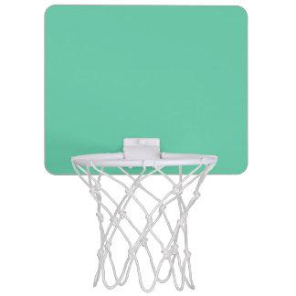 color medium aquamarine mini basketball hoop