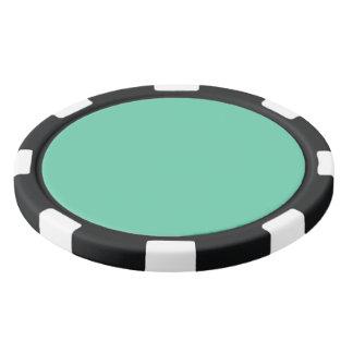 color medium aquamarine poker chips set