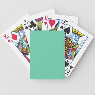 color medium aquamarine poker deck