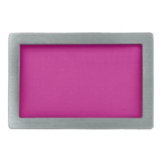 color medium violet red rectangular belt buckle