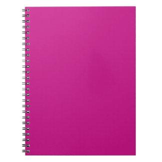 color medium violet red spiral note books