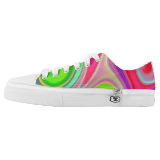 Color Mesh Swirls Womens Shoes Printed Shoes