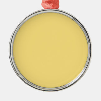 color mustard metal ornament