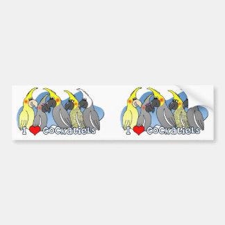 Color Mutations Cockatiel Bumper Sticker
