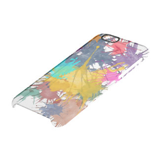 Color my life splatter + your background clear iPhone 6/6S case