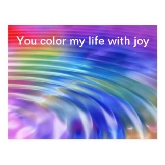Color my life world with joy postcard