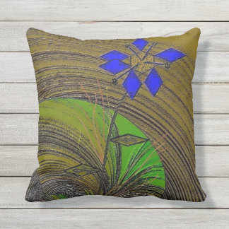 """""""Color My World"""" Outdoor Throw Pillow 16"""" x 16"""""""