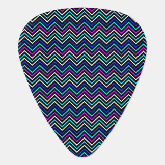 Color Neon Chevron Photo Design Guitar Pic Plectrum