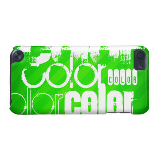 Color; Neon Green Stripes iPod Touch (5th Generation) Covers