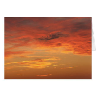 """""""Color of Love"""" sunset blank note card"""