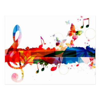 Color of Music Postcard