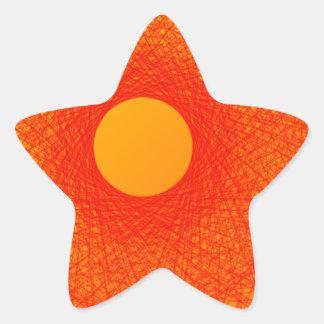color orange happines abstract art star sticker