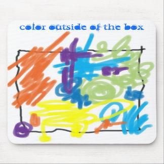 color outside of the box mousepad