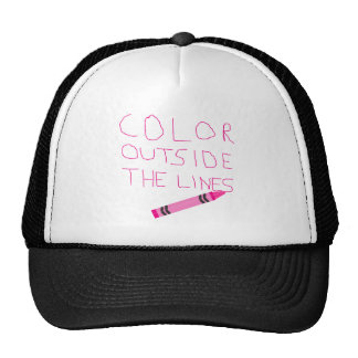 Color Outside The Lines (Pink) Mesh Hats