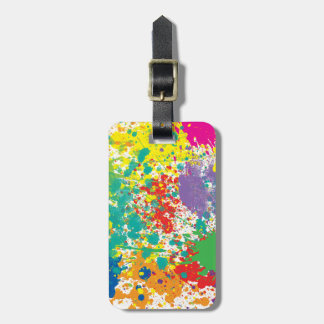 Color Paint Splatter Luggage Tag