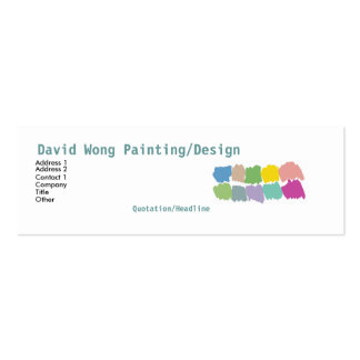 Color paintbrush swatches Business Card -skinny