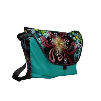 Color Pallot Fractal Rickshaw Messenger Courier Bags
