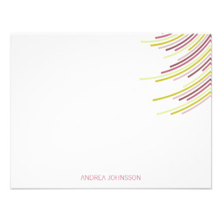 Color Party Stripes 21st Birthday Thank You Note Custom Announcements