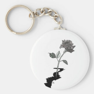 Color Pencil Detroit Rose Key Ring