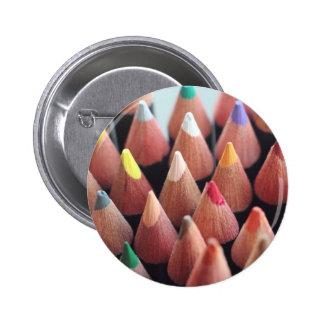 Color Pencils 6 Cm Round Badge