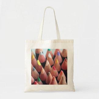 Color Pencils Budget Tote Bag