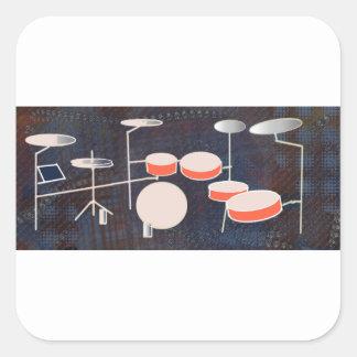 Color Percussion Square Sticker