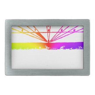 Color Perspective, Zetetic Astronomy by Parallax Rectangular Belt Buckles