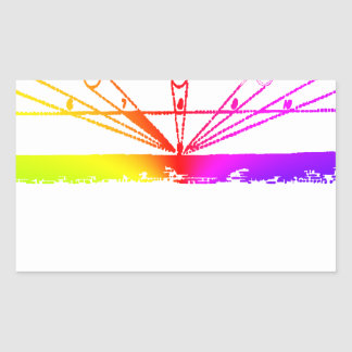 Color Perspective, Zetetic Astronomy by Parallax Rectangular Sticker