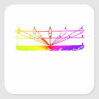 Color Perspective, Zetetic Astronomy by Parallax Square Sticker