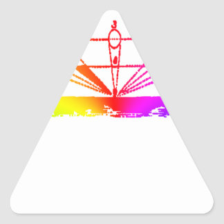 Color Perspective, Zetetic Astronomy by Parallax Triangle Sticker