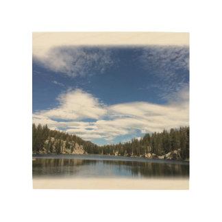 Color photo of TJ Lake printed on wood Wood Wall Art