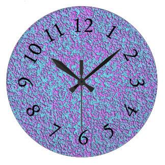 Color-Pigment's-Fushia-Turquoise -Clock Large Clock