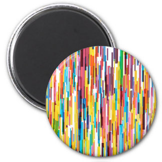 Color Pikes Pattern Magnet