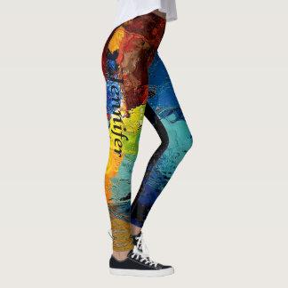 Color pop Leggings YOUR NAME Womens Custom Pants