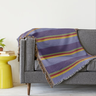 Color Pop Palette Stripes Personalized Throw Blanket