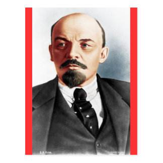 Color portrait of Lenin Postcard