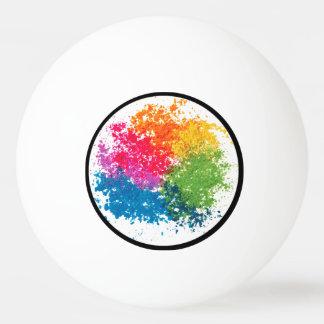 Color Powder Rainbow Ping Pong Ball