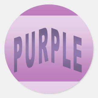 Color Purple Classic Round Sticker