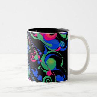 Color Rain 2 Two-Tone Mug