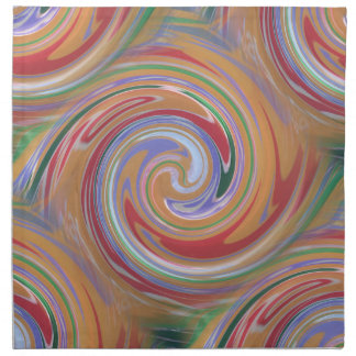 Color rainbow swirling pattern napkin