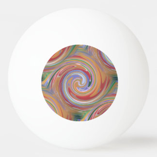 Color rainbow swirling pattern ping pong ball