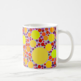 color random walk coffee mug