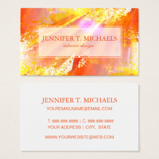 color seamless art background yellow, orange business card