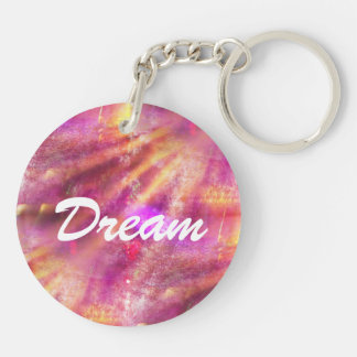color seamless background purple, pink Double-Sided round acrylic key ring