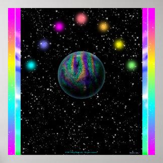 Color space mini poster