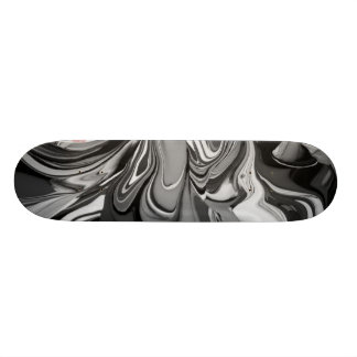 Color Spill (in Black and White) 20 Cm Skateboard Deck