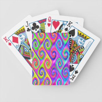 Color Spiral Alpgorithmic Pattern Bicycle Playing Cards