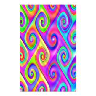 Color Spiral Alpgorithmic Pattern Personalised Stationery