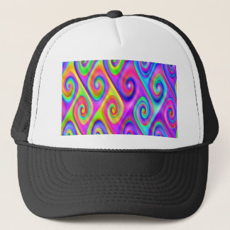Color Spiral Alpgorithmic Pattern Trucker Hat