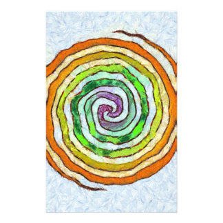 color-spiral. stationery paper